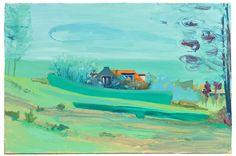 https://flic.kr/p/N5LhRt | Dutch Dike House, 2011. Oil on canvas, size: 40x60cm | Refine Art refineart.com/artists/15/albert-zwaan www.albertzwaan.nl