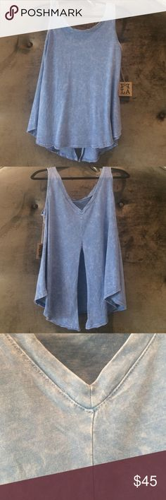 Blue Fly Away Tank New with tags Bevello Tops Tank Tops