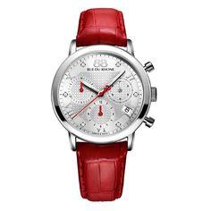Rue Du Rhone Women's 87WA130029 'Double 8' Chronograph Diamond Red Watch