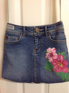 Upcycled Recycled Repurposed Guess Brand Denim by HookinUp on Etsy, $38.00