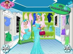 Frozen Games - Frozen Elsa Pregnant Shopping