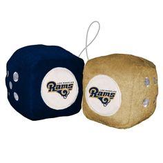 Los Angeles Rams Fuzzy Dice