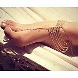 classique alliage glands sweety sandale aux pieds nus (de doré, argenté) (