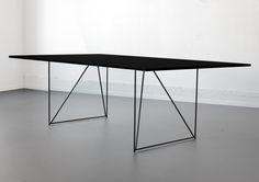 W1 Wired Table by Elementa - in black Forbo Desktop linoleum