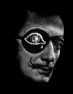 1966 Salvador Dali photograph by Phillipe Halsman