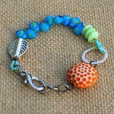 Beach Bracelet Bohemian Jewelry Gypsy Jewelry Blue by ThreeTrees, $24.00