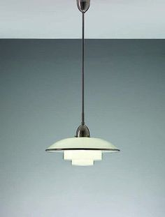 C. F. Otto Müller for Müller & Zimmer GmbH; Titan ceiling lamp mod. P4.5, satin-finished nickel and glass, Germany, 1931 (sold by Sistrah-Licht GmbH, (Megaphos))