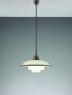 Original Bauhaus Sistrah-TITAN-CF Otto Mueller-1931 ceiling lamp