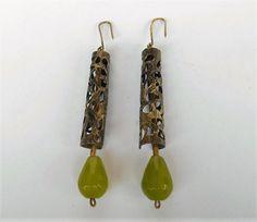 Jade Earrings, Pendant Earrings, Statement Earrings, Drop Earrings, Bubble Wrap Envelopes, Henna Tattoo Designs, Antique Gold, Dangles, Jewelry Making
