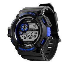 Timsty Electronic Sports Watch with LED Backlight Water Resistant Quartz Digital Watches