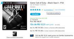 Compre games para PS3, Xbox 360 e outras plataformas com 12% de desconto no cupom + 10% de desconto pagando à vista.