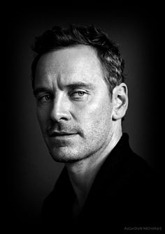 Black and White Photography Portrait of Michael Fassbender