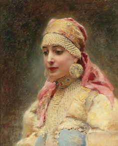 Константин Маковский  Портрет боярыни 1915