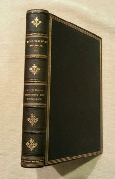 Child's History of England Charles Dickens, Beautiful Antique Full Leather book , J S Virtue & Co, Illustrated, Printed late 1800's