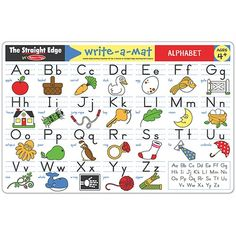 Write-A-Mat Alphabet Learning Time, Early Learning, Learning Activities, Toddler Activities, Alphabet Writing, Alphabet Crafts, Color Crayons, Uppercase And Lowercase Letters, Melissa & Doug