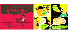 Mikkeller beer labels by Keith Shore.
