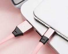 Odolný lightning nabíjací kábel CAFELE, 120cm, textilný v ružovej farbe Ios Apple, Apple Iphone, Apple Watch, Ipad, Cable