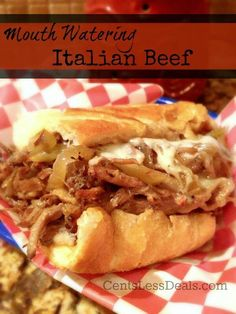 Cant wait to try this I love Italian beef!