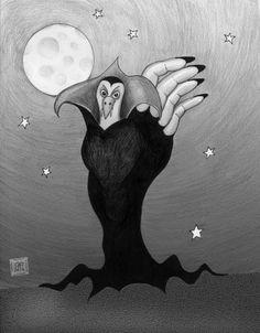 The Vampire - Hand Turkey #6 ©CarolynWatsonDubisch