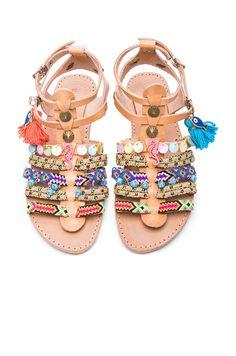 Image 1 of Elina Linardaki Leather Saltwater Sandals in Multi