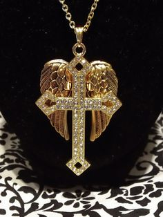 Gold necklace with CZ by DSHJewelry on Etsy, Please view sellers webb site to more info.