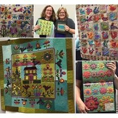 """It's finally here - Martingale's first-ever #coffeetablebook for quilters! We're so excited to debut our collaboration with quilt artist @suespargo on the """"Stitches to Savor"""" hardcover book and calendar. You'll find both available at your local quilt shop now. Wishing we could show you all of Sue's quilts walking the #schoolhouse runway right now - astonishing! #stitchestosavor #quiltmarket #schoolhouse #martingaleatmarket"""