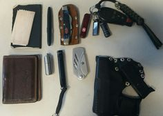 my edc 12/30/16 #Giannini Conti bifold leather wallet # moleskin pocket notebook # Costa del Mar microfiber cleaning cloth # Fisher space pen #Maratac split pea lighter #Maglite mini w/ led # Gerber EAB #Case XX 4 blade pocket knife w/ homemade leather sheath # Paracord key chain lanyard w/ Maratac Skull Bead # Dodge Challenger R/T key # Pelican 1010 flashlight  # Kingston PNY 16gb thumb drive  # Swiss Army Midnight Manager  #Ruger LCP w/ spare mag and homemade leather holster