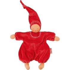 Waldorf Gugguli Doll - Embroidered Red