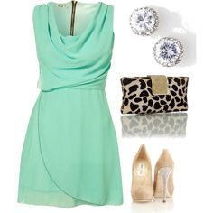 A touch of leopard makes a pretty party outfit come to life....