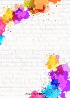 Background Design Of Color Ink Splashing Tiles Poster Background Design, Paint Background, Background Templates, Watercolor Background, Background Patterns, Background Images, Background Designs, Yellow Background, Cute Wallpapers