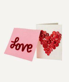 Buttons Heart Card