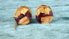 16mm Mind Blowing Red Mallee burl wood set in resin ear plugs, Hand crafted…