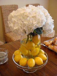 So pretty and clean!  Centerpiece for bridal brunch or maybe even reception.