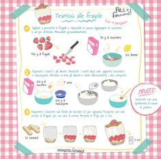 Kids Cooking Recipes, Cooking With Kids, Fun Cooking, Kids Meals, Strawberry Tiramisu, Strawberry Recipes, Drink Recipe Book, Tiramisu Recipe, Little Chef