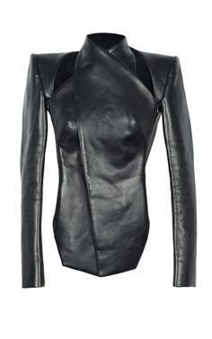 Vertigo Leather Jacket by Dion Lee - Moda Operandi #black #leather #jacket