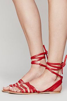 When in doubt, choose red. #refinery29 http://www.refinery29.com/strappy-sandals#slide-23