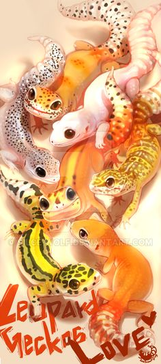 Leopard Geckos Love by Silce-Wolf on DeviantArtYou can find Leopard geckos and more on our website.Leopard Geckos Love by Silce-Wolf on DeviantArt Lepord Gecko, Leopard Gecko Cute, Cute Gecko, Leopard Gecko Habitat, Baby Leopard, Leachie Gecko, Crested Gecko, Gecko Food, Les Reptiles
