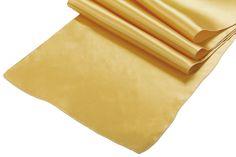 Satin Table Runner - Bright Gold