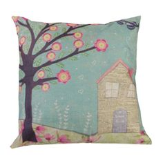 4.95$  Buy here - http://diqqy.justgood.pw/go.php?t=200967001 - Home Decor Spring Floral Printed Cushion Linen Pillow Case