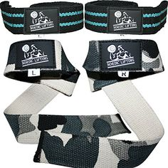 Lifting Straps 2 Pairs4 Straps for Weightlifting CrossFit Workout Gym Powerlifting Bodybuilding  Better Than Chalk  Leather  Support For Women  Men  Premium Quality Equipment  Accessories  Use Gloves Hooks Wrist Wraps  Straps to Avoid Injury During Weight Lifting  Aqua Blue  Camo Grey  1 Year Warranty * You can find more details by visiting the image link.