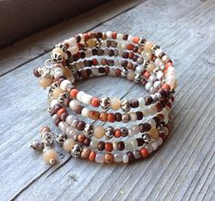 Fall Fashion Multi Coil Memory Wire Bracelet by McHughCreations