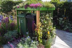 Shop - Secure cycle parking and binstores — Front Yard Company Ltd Garden Ideas For Small Yards, Garden Ideas Uk, Garden Inspiration, Garden Fun, Garden Path, Herb Garden Pallet, Wooden Garden Planters, Landscaping With Rocks, Front Yard Landscaping
