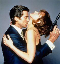Still of Pierce Brosnan and Izabella Scorupco in GoldenEye