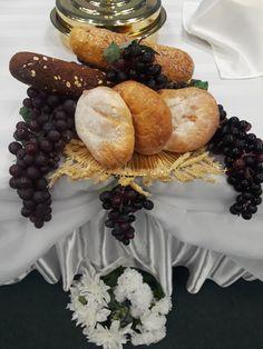 Baptism Ideas, Center Ideas, Communion, Ideas Para, Worship, Harvest, Stuffed Mushrooms, Thanksgiving, Vegetables