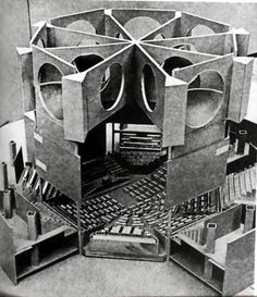 A cut-away model of Louis Kahn's parliamentary building in Dhaka, Bangladesh.