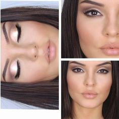 soft shimmery eyes and nude lip  ~ we ❤ this! moncheriprom.com
