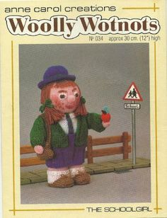 PDF Woolly Wotnots Knitting Pattern – The Schoolgirl by Anne Carol Creations. 034 high figure) by DorothyLauderArt on Etsy Jean Greenhowe, Knitting Patterns, Crochet Patterns, Paint Supplies, Love To Meet, Schoolgirl, Stuffed Toys Patterns, Pattern Paper, Bedding Shop