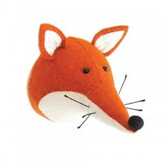 Fiona Walker England Felt Animal Heads are sure to make people smile. An adorable, cute and beautiful Wall Mounted animal head which will suit adults and children. This quirky, soft plush animal head will make a fun and modern statement on any wall Safari Animals, Plush Animals, Felt Animals, Baby Animals, Fiona Walker, Friendly Fox, Felt Fox, Wool Felt, Animals