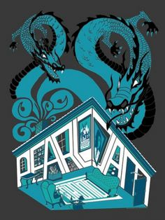 Pearl Jam. Air Canada Centre, Toronto, ON, May 5, 2006.  Opening Band: My Morning Jacket. (Artist: Brad Klausen). Classic rock music concert psychedelic poster ~ ☮~ღ~*~*✿⊱  レ o √ 乇 !! ~