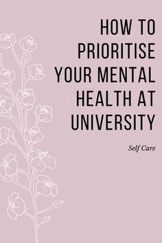 Now more than ever, mental health needs to be talked about as we try and reduce the stigma associated with it. #mentalhealth #studentmentalhealth #mentalhealthtps Mental Health Day, Mental Health Problems, College Hacks, College Food, Healthy College Meals, Recipes For College Students, Mindfulness Practice, When You Know, Prioritize